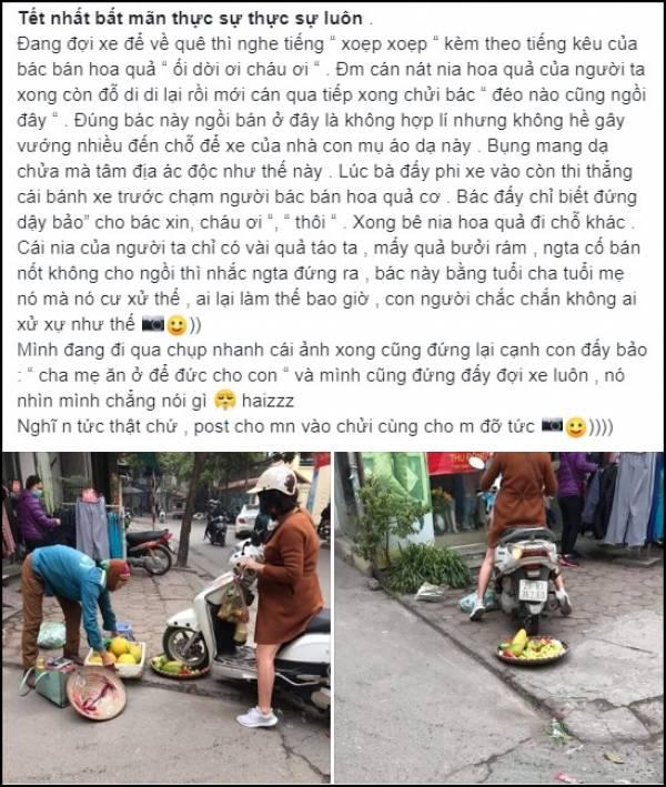 Câu chuyện bắt nguồn từ người đi đường vô tình thấy cảnh bất bình và chụp lại, đăng lên mạng xã hội.